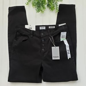 Kensie Black Ultimate High Rise Skinny Jeans NWT 8